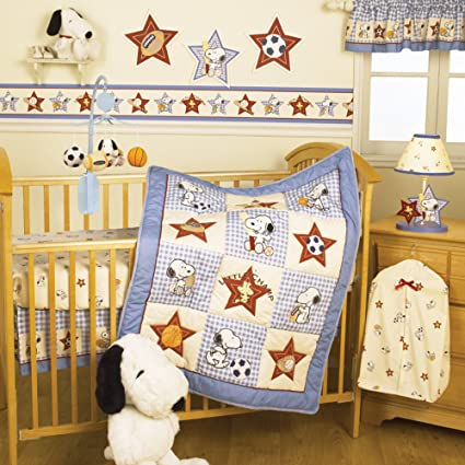 Champ Snoopy baby bedding