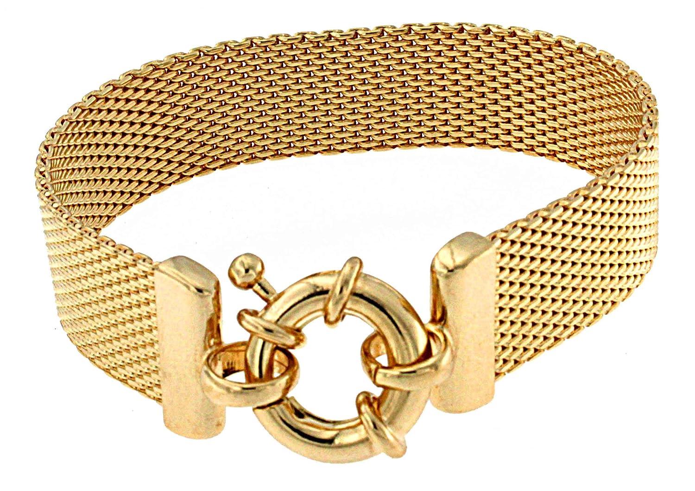 TENDENZE Armband Milanaise 18kt Gold Doublé Länge wählbar direkt ab italienischer Fabrik