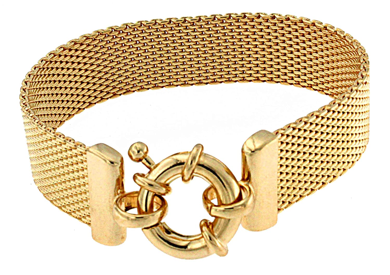 TENDENZE Armband Milanaise 18kt Gold Doublé Länge wählbar direkt ab italienischer Fabrik günstig