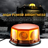 Led Strobe Light,Emergency Beacon Amber Light 40 Watt 10 Modes Powerful Magnet Warning Flashing Bright Waterproof Emergency Vehicle Lights with Dust Cover for Cars and Trucks 9.8ft Cord (Color: 8)