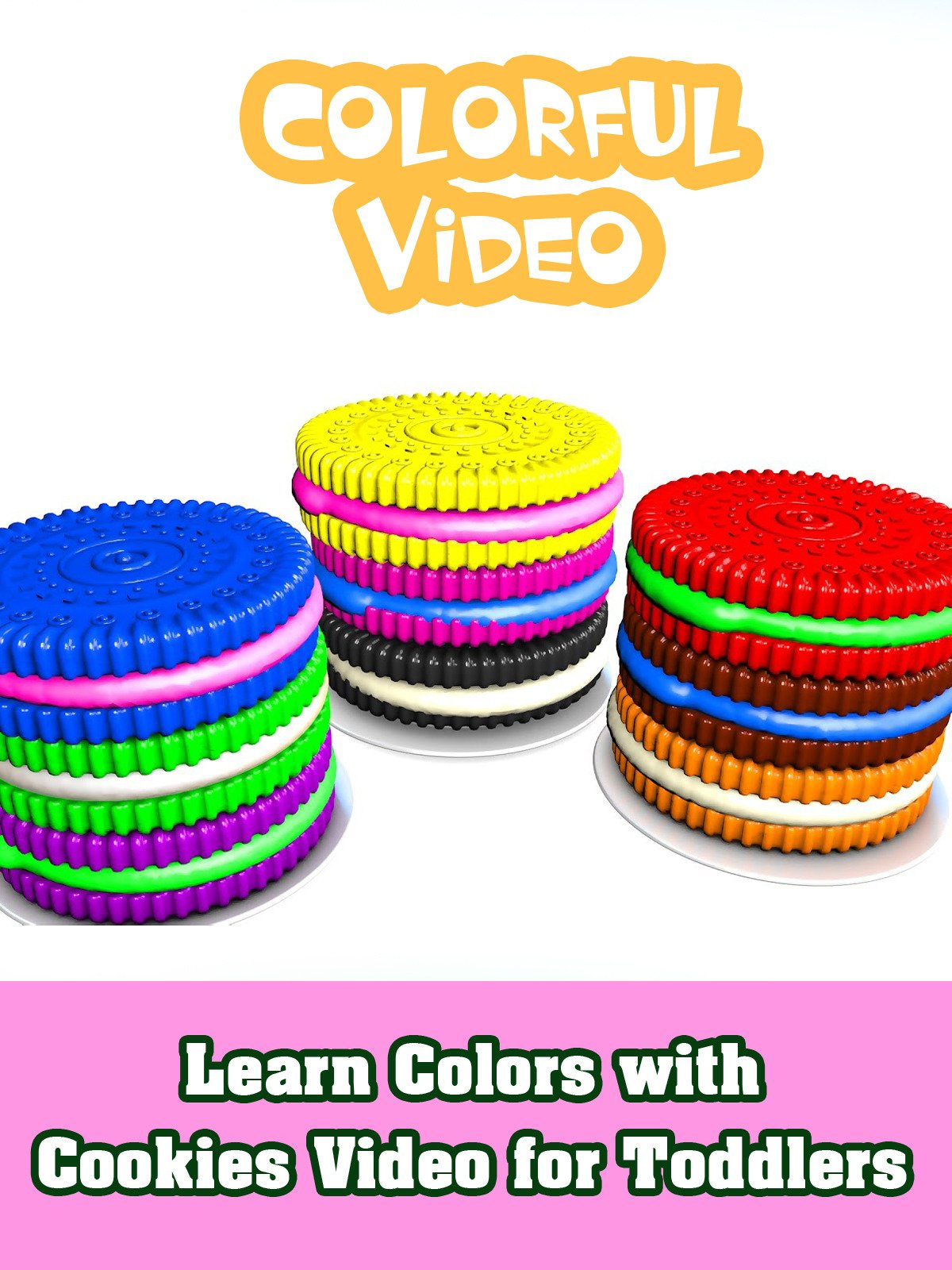 Learn Colors with Cookies Video for Toddlers