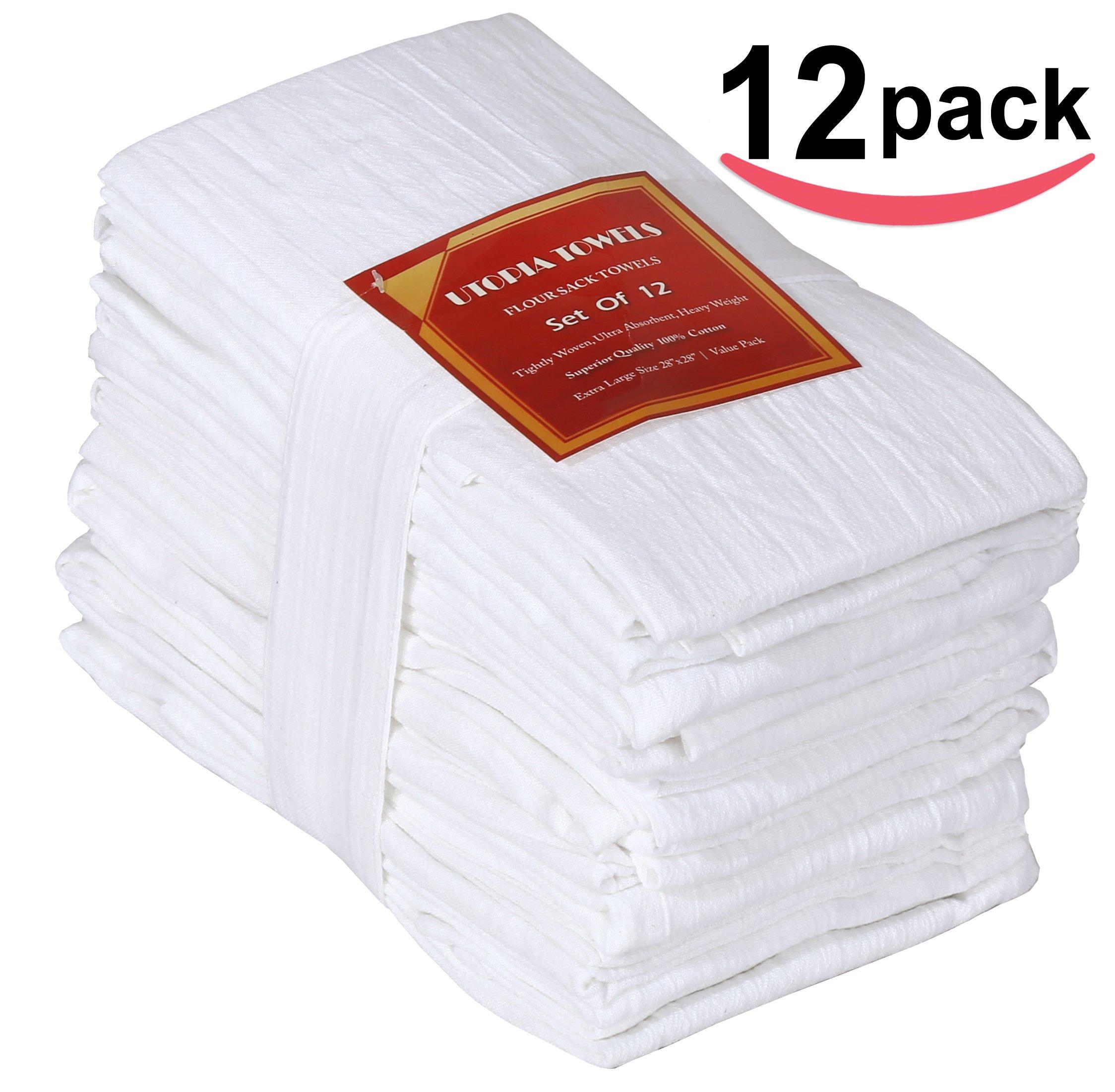 Kitchen Towels: Flour-Sack-Towels Dish-Cloth Kitchen-Towels Pure Cotton 12