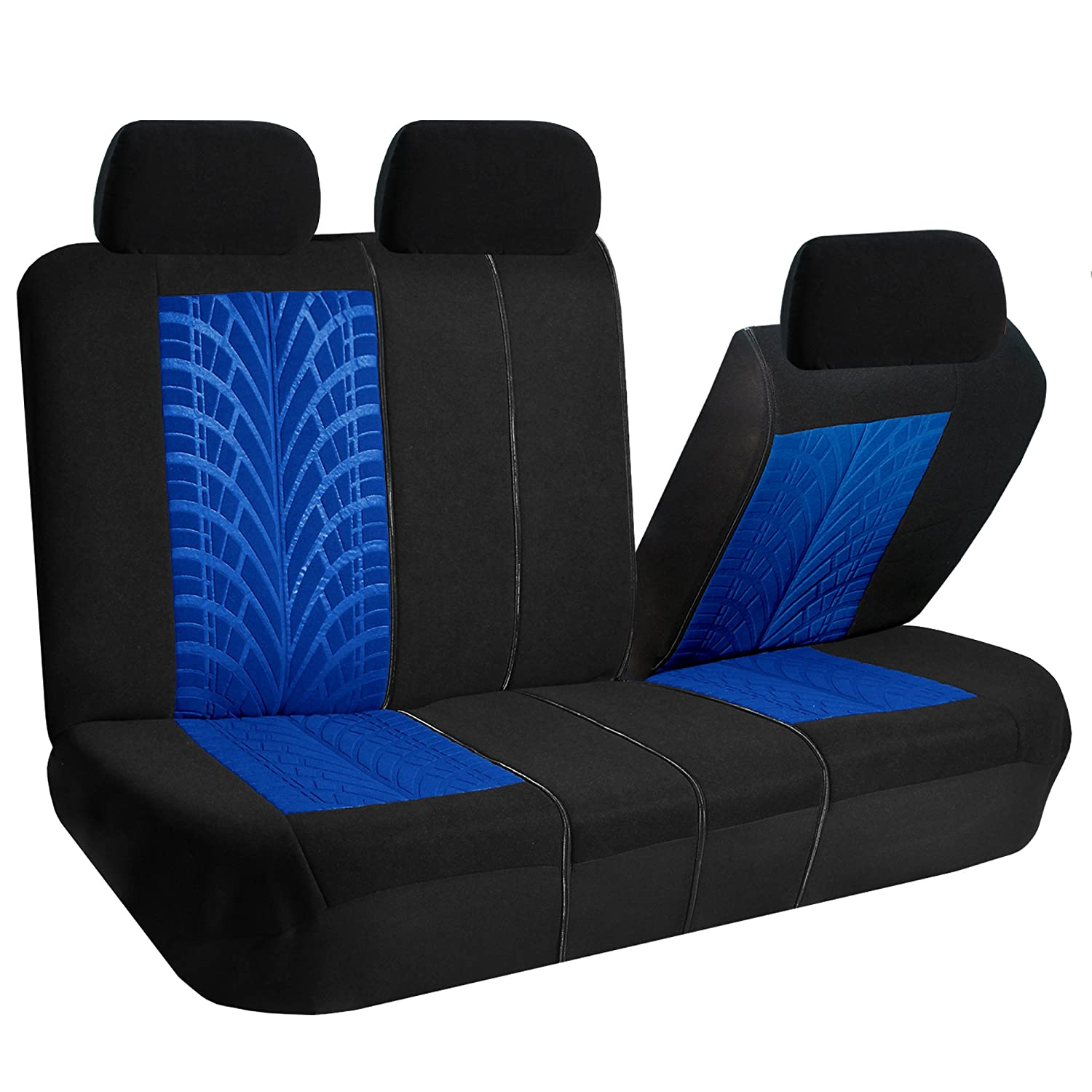 Split Bench Seat Covers ~ Car seat covers for auto split bench airbag blue ebay