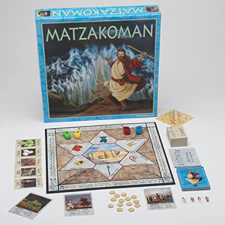Matzahkoman Board Game for the Leil Seder, Passover Game, Le jeu de société pour Pessa'h