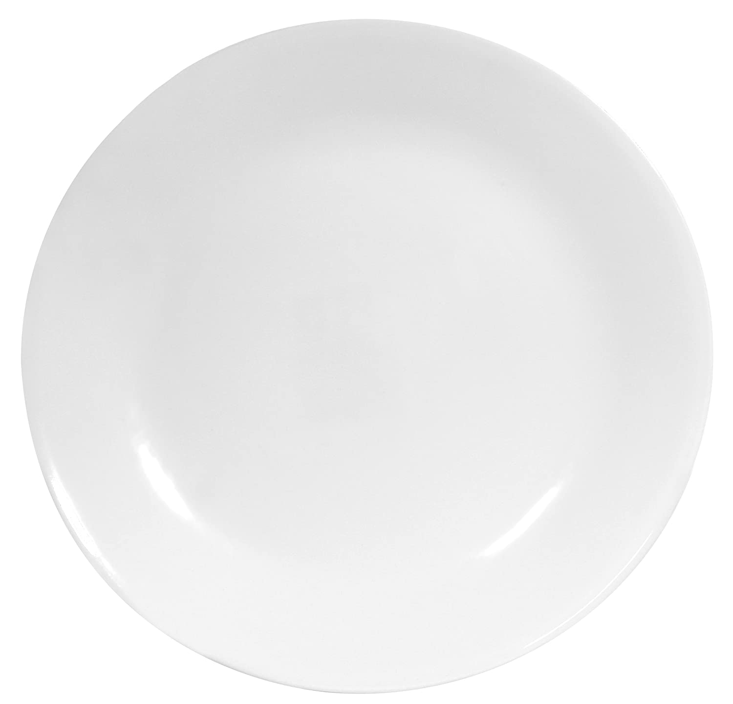 Corelle Livingware 6-Piece Dinner Plate Set, Winter Frost White