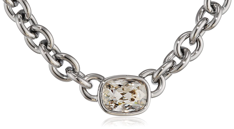 Dyrberg/Kern Damen-Kette ohne Anhänger 15/02 Elisa Ss Crystal Messing gebürstet Kristall transparent 57.5 cm - 337639