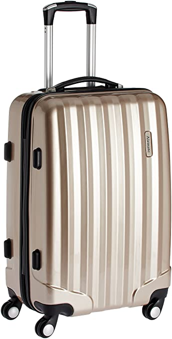 Airmate Polycarbonate 75 cms Gold Hard sided Suitcase (AM007) low price
