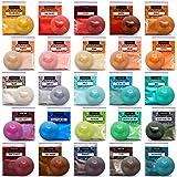 Mica Powder Epoxy Resin Dye - 25 Powdered Pigments Set - Soap Dye - Makeup Dye (Tamaño: 25 colors)