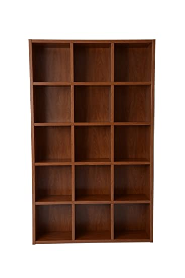 Boraam Techny Collection Kline Hollow Core Bookcase, Golden Oak