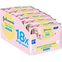 18-Pack Johnsons Baby Fragrance Free Wipes