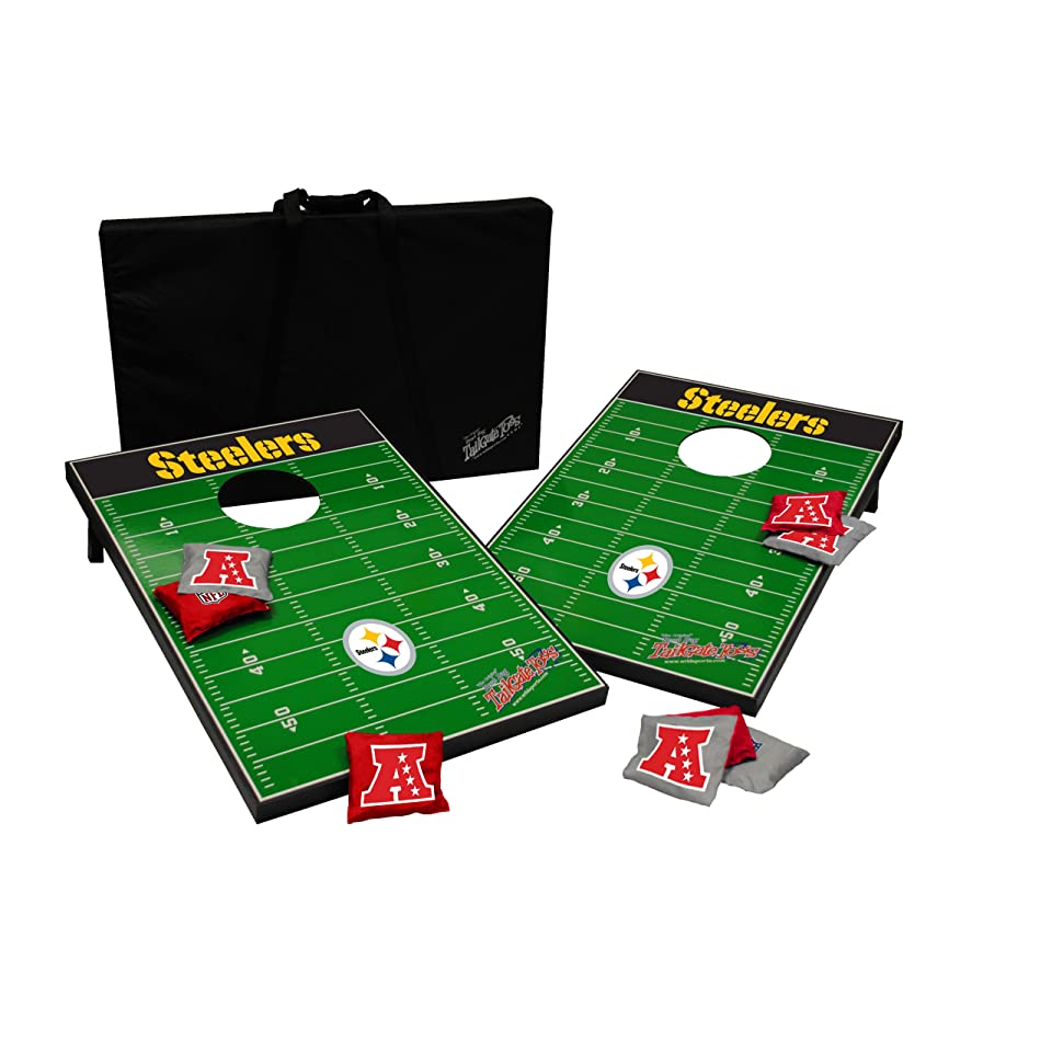 NFL Pittsburgh Steelers Football Team Logo Tailgate Party Cornhole Bag Toss Game