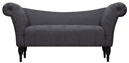TOV Furniture Shev Linen Settee, Grey