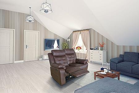 Chillroi Wohnzimmer Relaxgarnitur 2er edele Optik RELAX-Funktion