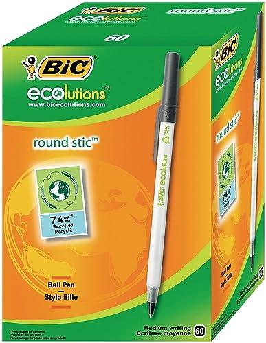BIC Roundstic - Bolígrafo reciclado, color azul