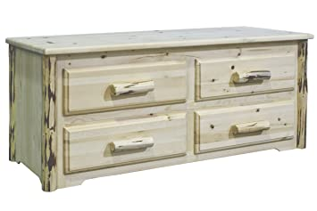 Montana Woodworks Collection 4-Drawer Sitting Chest, Ready to Finish
