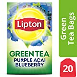 Lipton Green Tea Bags, Purple Acai Blueberry, 20 ct Pack of 6 (Tamaño: 20 Count (Pack of 6))