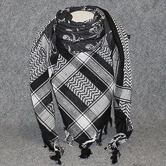 freak scene foulard foulard palestinien keffieh en coton motifs t te t te de mort. Black Bedroom Furniture Sets. Home Design Ideas