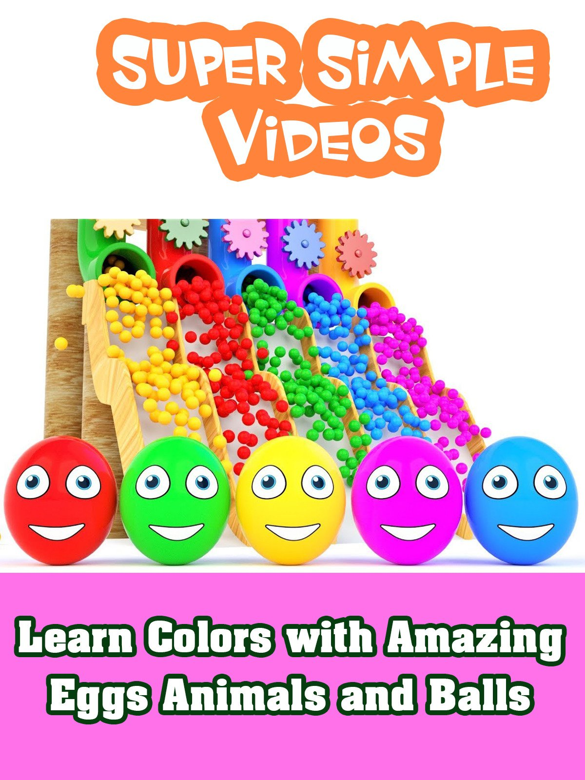 Learn Colors with Amazing Eggs Animals and Balls