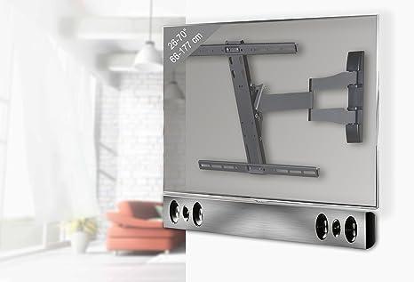 """VCM """"Sbw300"""" Holder for TV Plus Soundbar and Holder, Black/Silver"""