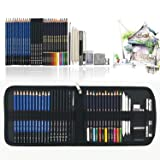 Sketch Pencils For Drawing,41 Piece Drawing Pencils,Colored Pencils Art Set with Drawing Tool in Pop Up Zipper Case,Perfect Gift for Beginners, Kids or Any Aspiring Artist
