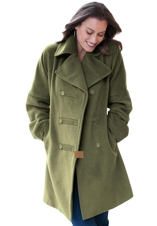Plus Size Military Style Jacket