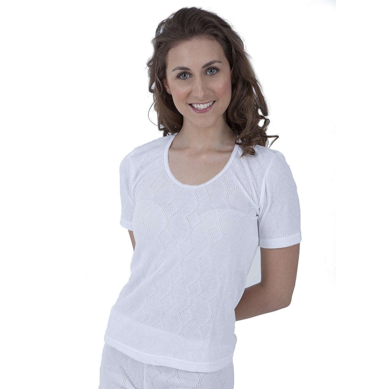 Damen Thermo-Unterwäsche, kurzärmliges T-Shirt (Hergestellt in Großbritannien)