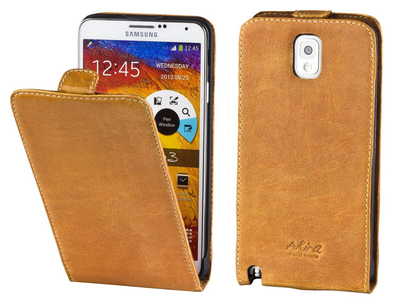 Perfect Case ® Stil Better CALIDAD SUPERIOR original cuero Flip Case para Samsung Galaxy Note 3 - Marrón - Electrónica Comentarios de clientes y más información