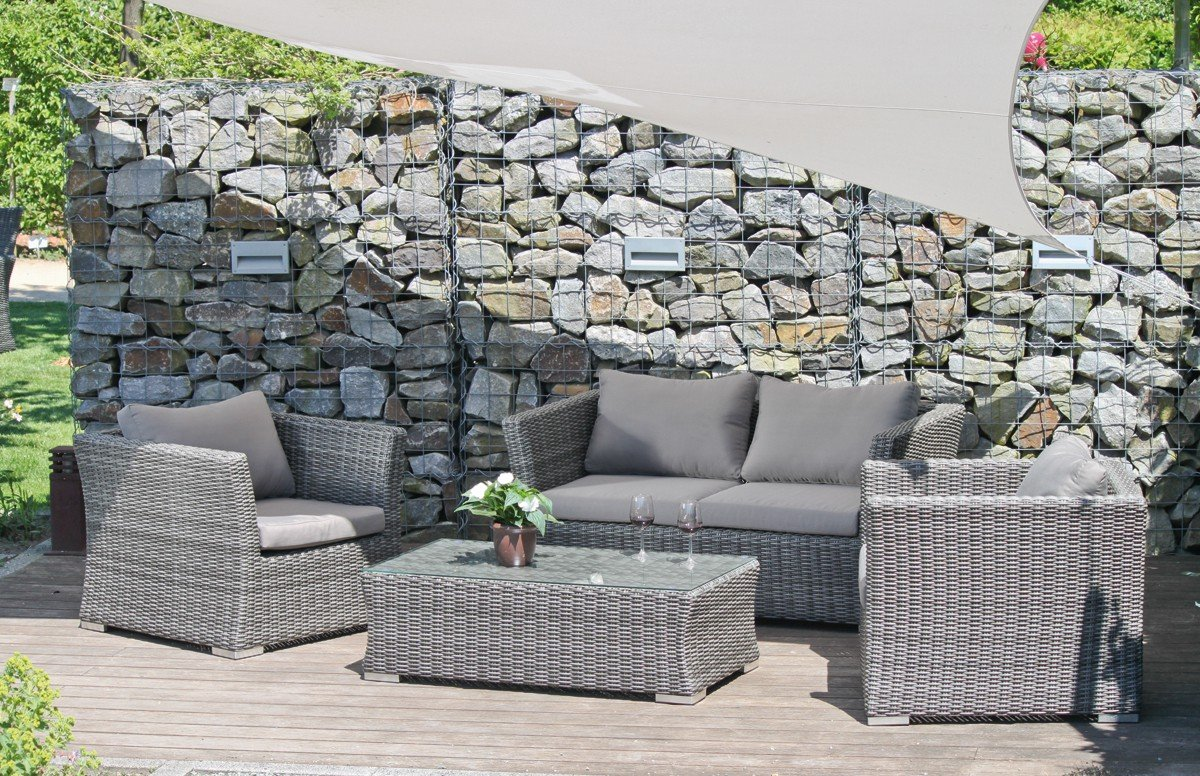 gartenm bel rattan gartenlounge sitzgruppe polyrattan. Black Bedroom Furniture Sets. Home Design Ideas