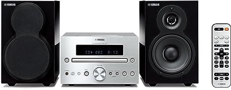 Yamaha MCR-332 SIPB Micro chaîne CD avec Station d'accueil pour iPod/iPhone Tuner FM USB Argent/Noir Piano