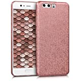 kwmobile Hard case Design Mosaic glitter for Huawei P10 in rose gold