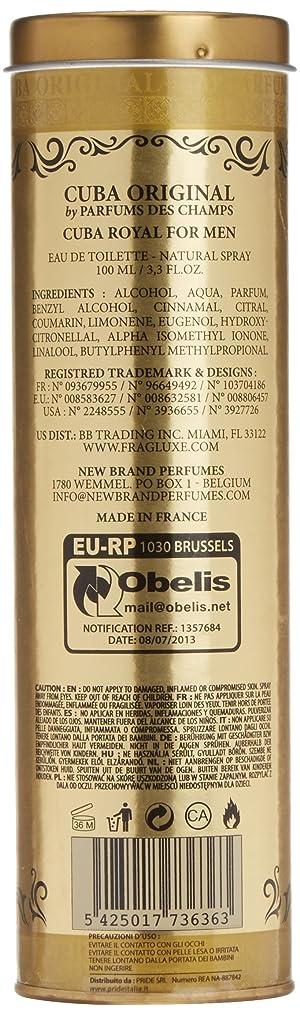 Cuba Royal by Cuba for Men Eau De Toilette Spray, 3.3 Ounce