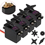 AUTOUTLET 4PCS MG996R High Torque Metal Gear Servo MG995 Upgraded Digital Servo for RC Truck, Boat, Racing Car, Helicopter and Airplane