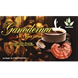 2-1 Classic Cafe Style Healthy Black Coffee with Ganoderma (20 Sachets) (Color: White to Dark Brown Powder, Tamaño: 1 Pack)