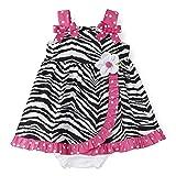 Rare Editions Baby-Girls Infant Zebra Print Woven Dress