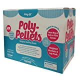 Fairfield 25-Pound Poly-Pellets Weighted Stuffing Beads, 100-Percent Polypropylene, White (Color: White, Tamaño: 25 lb)