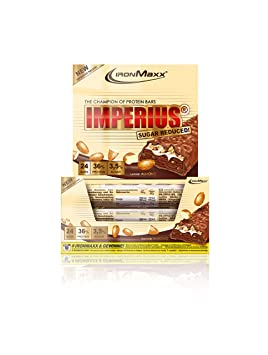 IronMaxx Imperius Sugar Reduced - 36 Prozent Protein - 3 Prozent Zucker - Mandel, 1er Pack (1 x 1.08 kg)