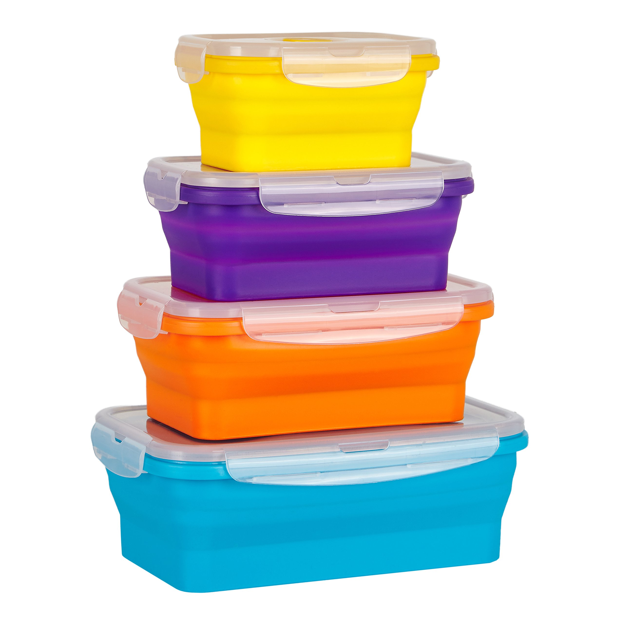 Wowzr Flat Stacks Collapsible Food Storage Containers