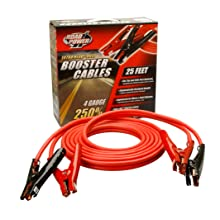 Coleman Cable 08662 25-Feet Heavy-Duty Booster Cables, 4-Gauge