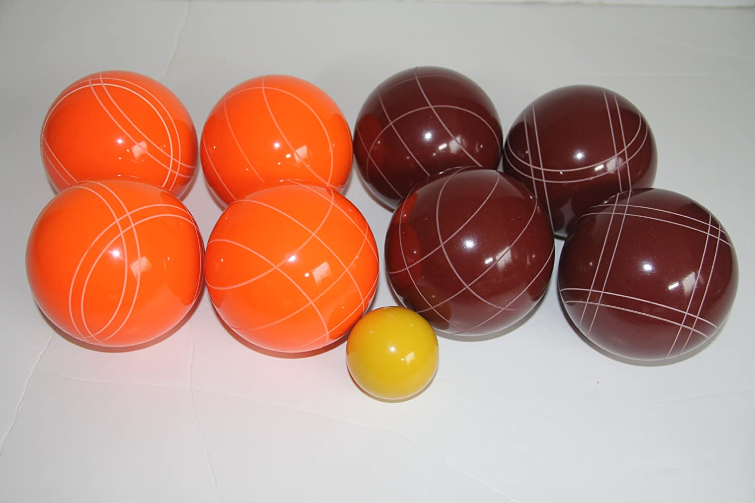 Premium Quality EPCO Tournament Bocce Set – 107mm Red and Orange Bocce Balls … günstig kaufen