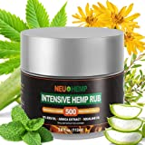 Hemp Cream Pain Relief Rub - 500mg Organic Hemp Oil Extract Topical Pain Reliever for Arthritis Knee Muscle Relaxer Nerve Plus + Pure EMU Arnica Montana Squalane Daily Lotion Salve Balm Ointment