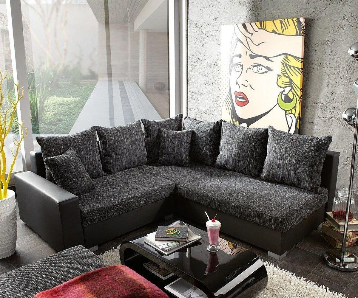 Couch Lavello Grau Schwarz 210x210 Ecksofa + Hocker Ottomane rechts  Kundenbewertung und Beschreibung