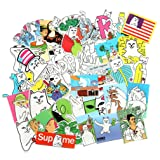 Cool Laptop Stickers Pack Baybuy RipNDip sticker for Laptop Skateboard Helmet Motorcycle,Bicycle,Skateboard Luggage,Bumper Stickers Hippie Decals bomb Waterproof (50PCS) (Tamaño: 50PCS)