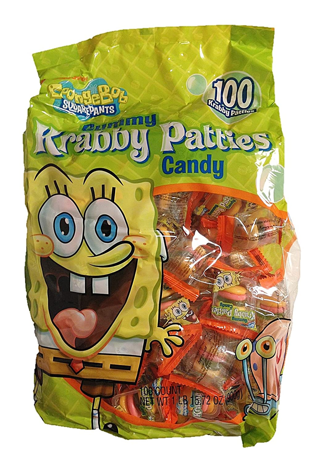 Sponge Bob Square Pants Krabby Patties 100 Piece Value Bag