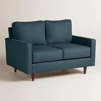 Textured Woven Nashton Upholstered Love Seat - World Market