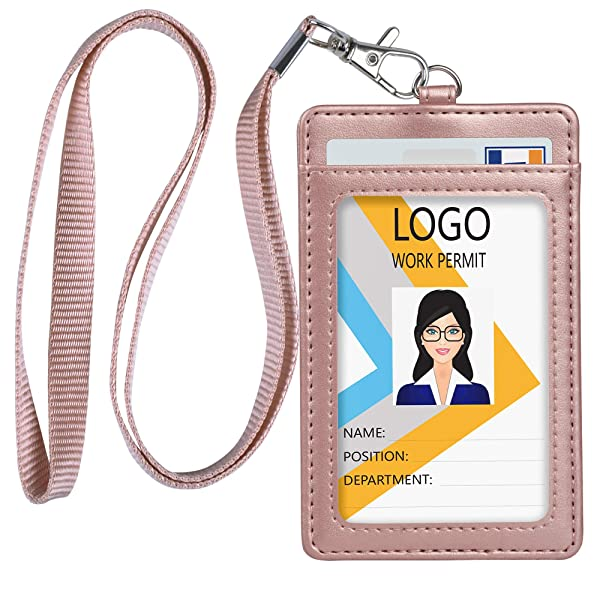 Sport Waterproof ID Card Badge Holder Case with Lanyard Cover Multiple Credit Cards Registration ins Card Heavy Duty Durable Locker,Dry Box
