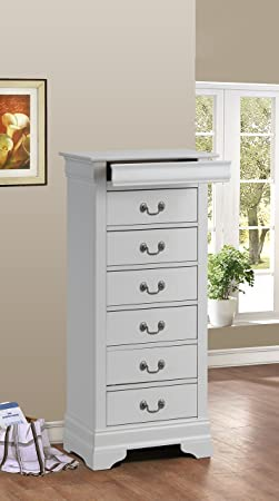 Glory Furniture G3190-LC Lingerie Chest, White