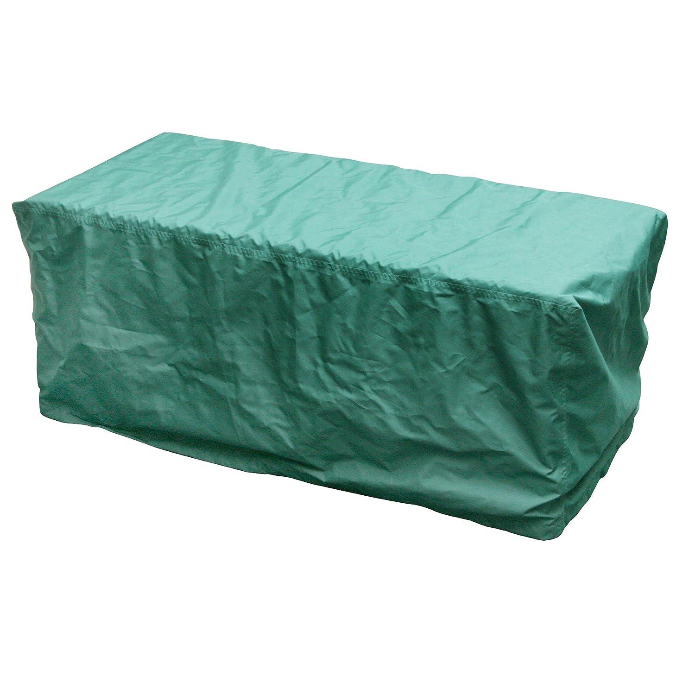 Greemotion Schutzhülle für Kissenbox wasserabweisend mit Zugband, Grün, ca. 126 x 55 x 51 cm