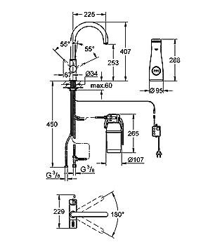 grohebluemitigeur vier vieravecsyst medefiltration del 39 eau33249001 importallemagne. Black Bedroom Furniture Sets. Home Design Ideas
