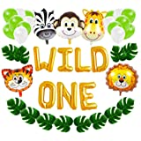 Wild One First Birthday Balloon Decoration Kit, 1st Boy Girl Theme Bday Party Banner Decoration Set (Color: Wild One Set)