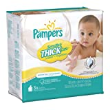 Pampers Sensitive ThickCare 3X Wipes 180 Count (Pack of 4)